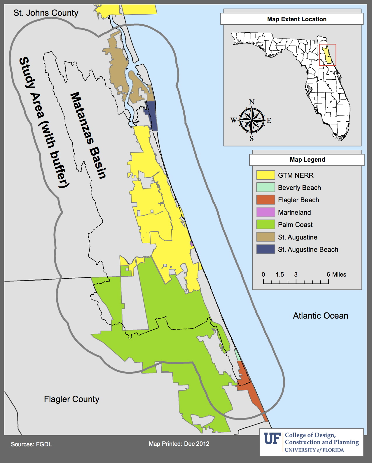 About Planning For Sea Level Rise In The Matanzas Basin - Florida map sea level rise