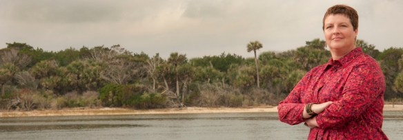 Kathryn Frank for spotlight on sea level rise and urban planning . photographed on Mantanza Inlet near Crescent Beach