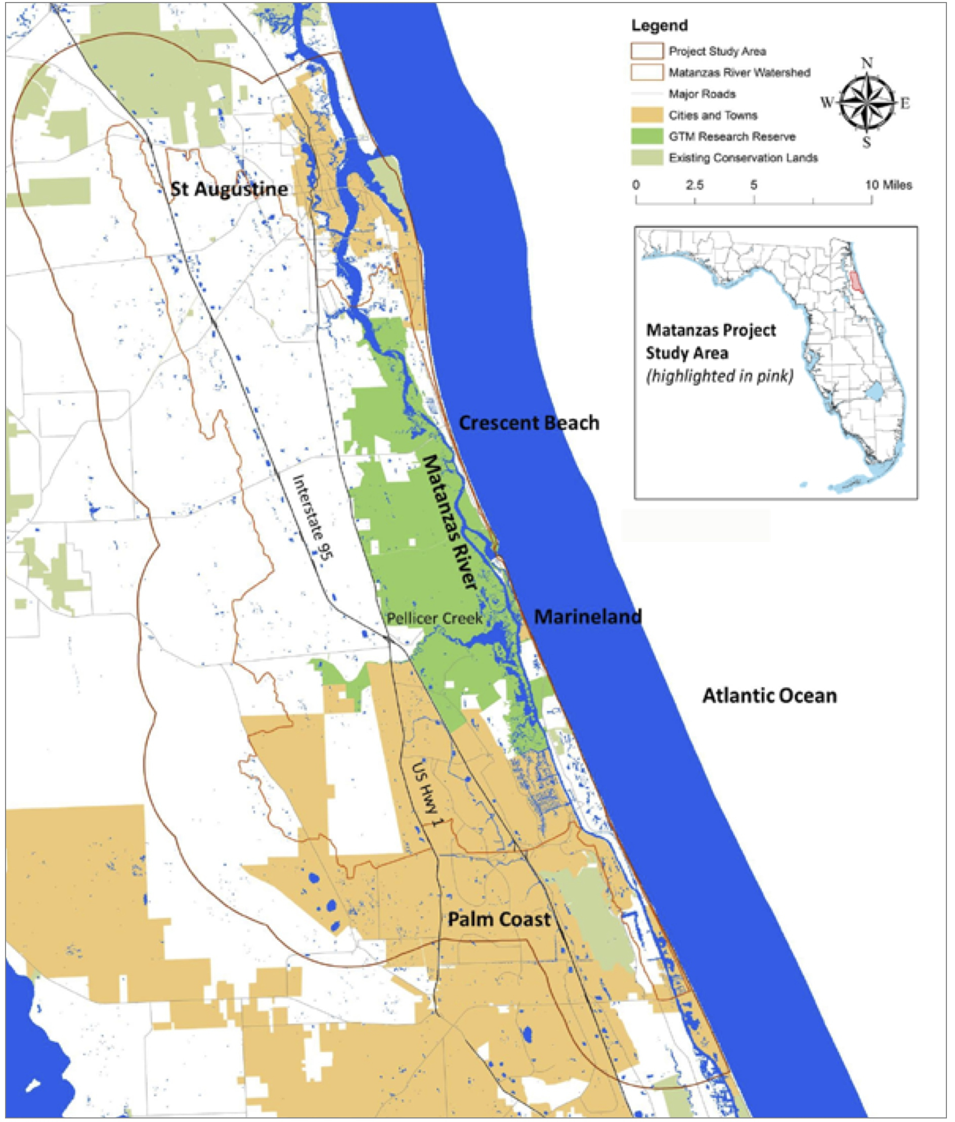 Planning For Sea Level Rise In The Matanzas Basin A Project Led - Florida map sea level rise